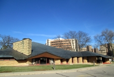 The First Unitarian Church, designed by congregation member Frank Lloyd Wright, in Madison, Wisconsin.